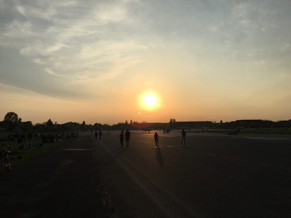 Sunset at Tempelhof in April